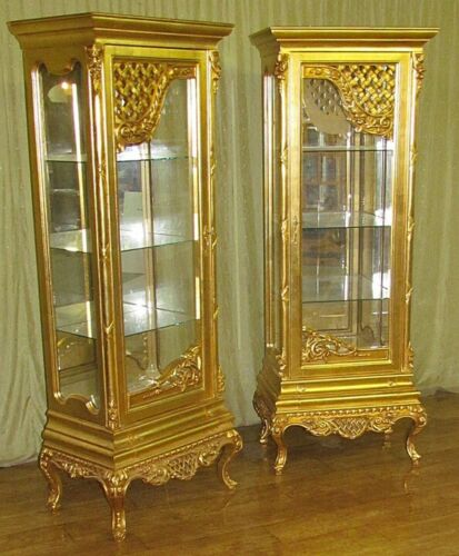CASE BAROQUE STYLE TWO GOLD GLASS CASES #AS6.5
